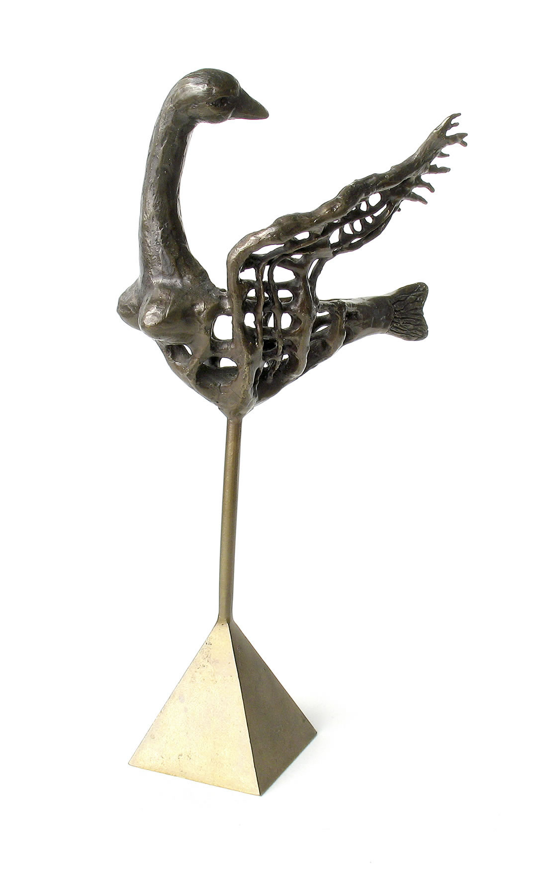 Sculpture de Lucienne Cornet / Bronze patiné / 20 x 10 x 6 cm
